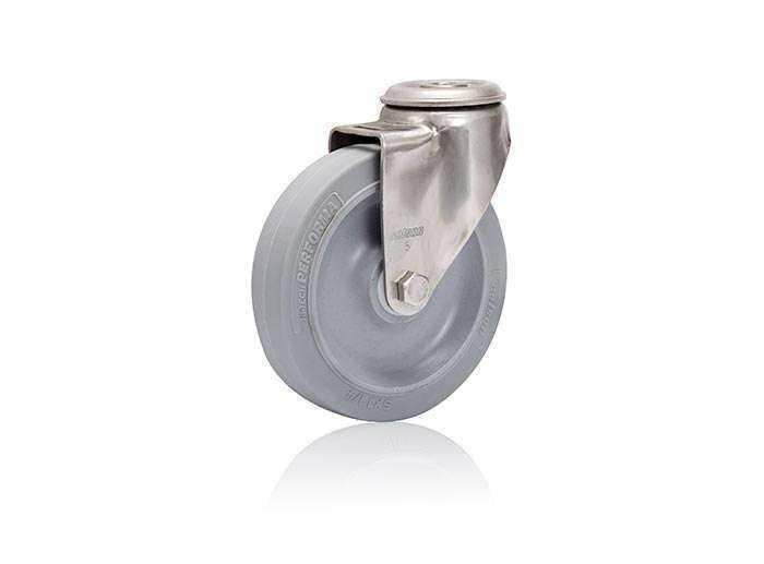 不锈钢空芯铆钉型-活动式脚轮