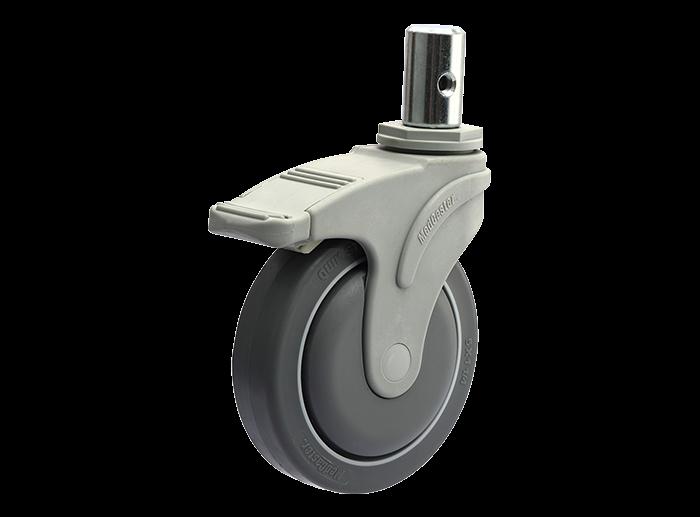 STO插杆/丝杆型全塑医疗推车脚轮
