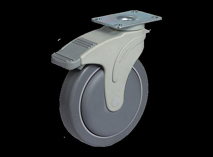 STO底板型全塑医疗推车脚轮