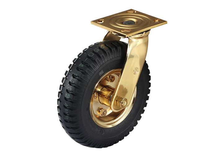 充气轮底板型-活动式/固定式脚轮